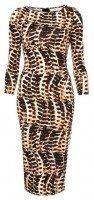 Оригинальное платье в леопардовой расцветке
