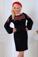Платье черное в национальном стиле