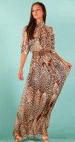 Роскошное платье макси из шифона