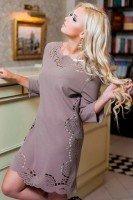 Платье - туника бежевого цвета