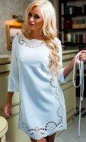 Платье - туника белого цвета