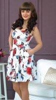 Летнее платье сарафан в яркий цветочный принт
