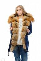 Парка зимняя с роскошным мехом Gold Fox