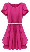 Платье розовое из крепдышина