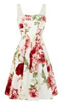 Летнее нарядное платье с цветочным принтом