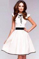 Нежное воздушное платье белого цвета