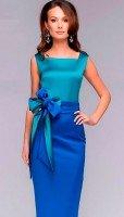Нарядное платье цвета морской волны