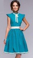 Нежное воздушное платье бирюзового цвета