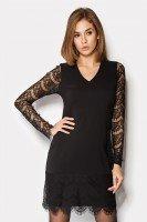 Изящное платье черного цвета