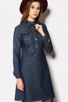 Платье джинсовое темно-синего цвета