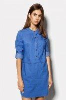 Платье джинсовое с длинным рукавом