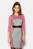Платье трикотажное цвета фуксия