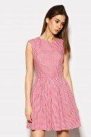 Платье из хлопка в красную клетку
