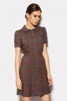 Платье летнее изумрудное в ретро стиле
