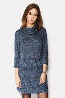 Трикотажное платье синего цвета