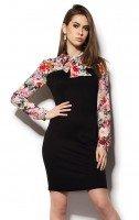 Платье с имитацией цветочной блузы