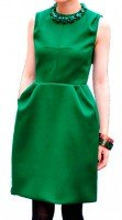 Платье зеленое шерстяное